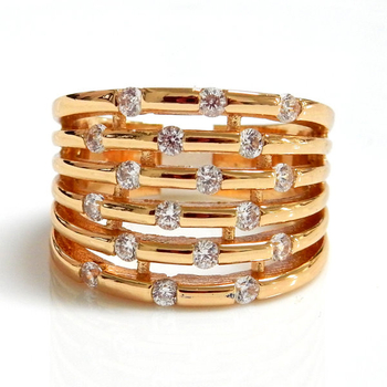 6 Row CZ Ring