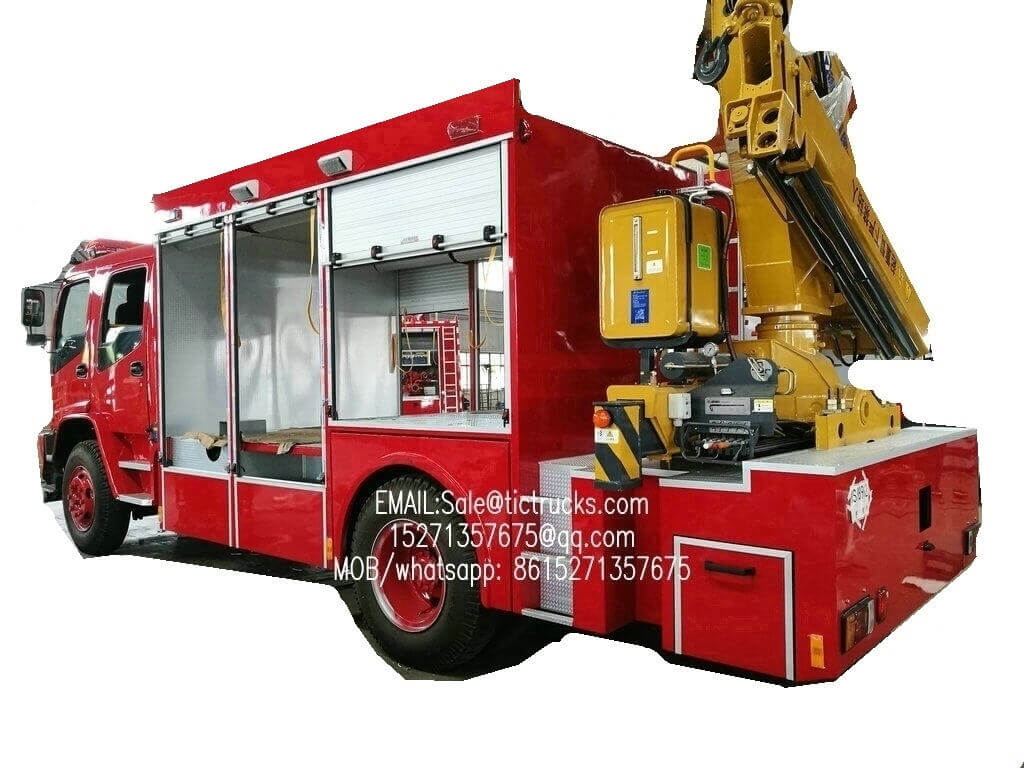 Emergency Rescue Truck monuted with XCMG SQ5ZK2 5T crane ISUZU FVR chassis