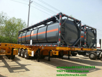 40ft Hydrochloric acid, Sodium hypochlorite Tank Containers 30000L-40000L