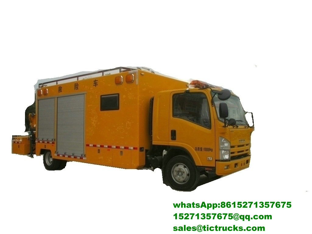 Véhicule de sauvetage multifonctionnel d'ISUZU 700P avec Crane_4_1.jpg
