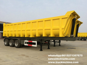 Heavy duty U shape dumper semi-trailer 60Ton