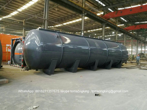 Horizontal Storage HCL Acid Tanks Steel Lined LDPE 120000 Liters