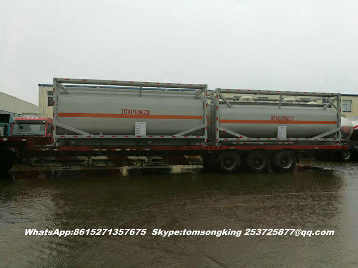 Steel lined PE ISO tank -76
