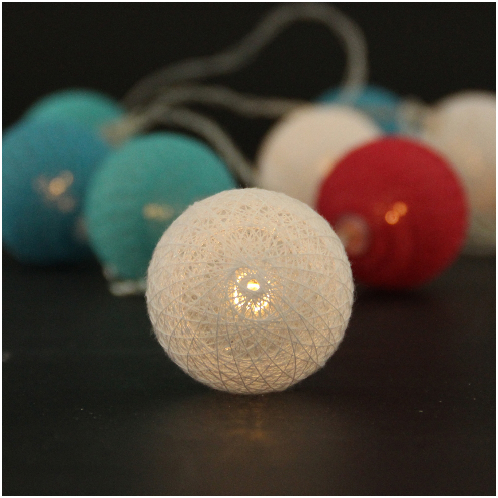 Cotton Ball Light String Christmas Light Holiday Decoration Ball String Light from China ...