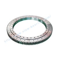 High quality Xuzhou Wanda Single Row Crossed Roller Slewing ring Bearing (HJ series) External Gear