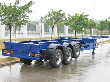 3 Axle 45T Skeletal/Skeleton Semi Trailer