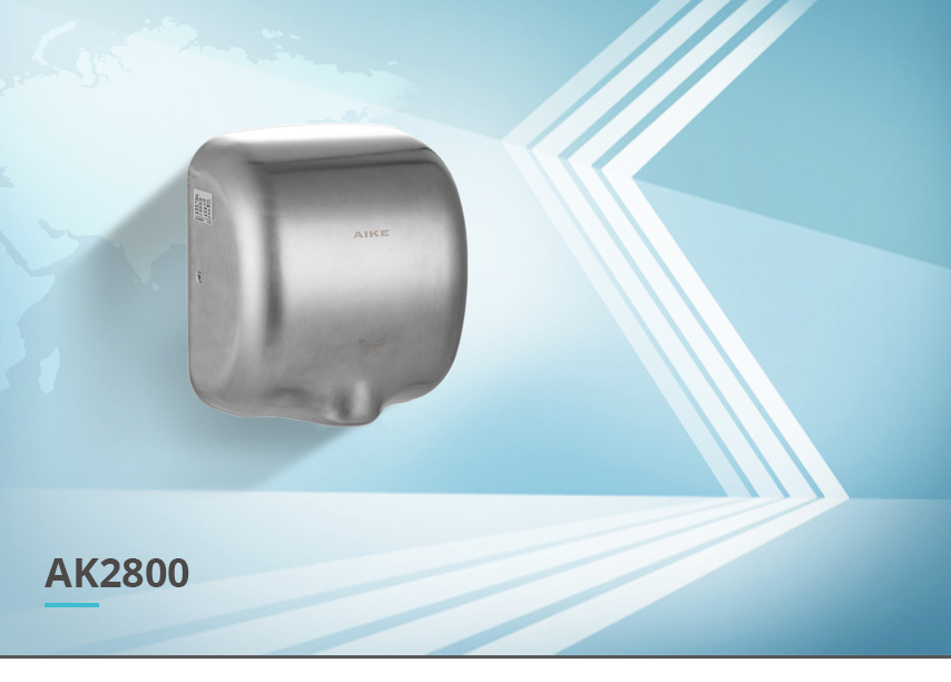 stainless steel hand dryer AK2800 view