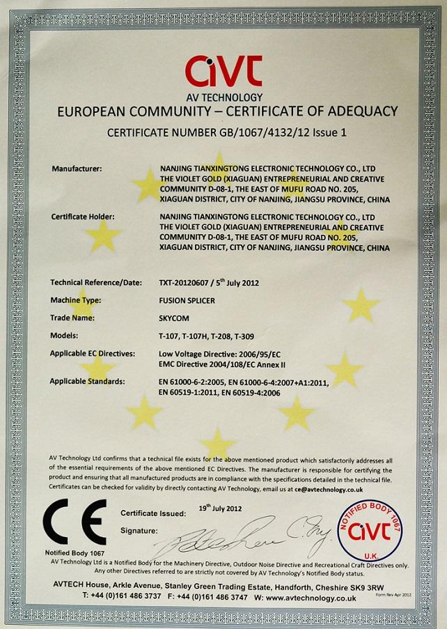 CE--Certificate