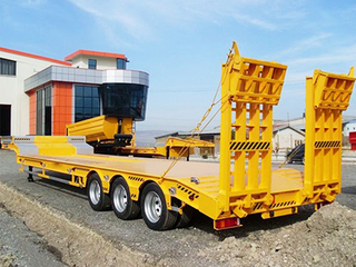 50 Ton 3 Axles High Quality Low Bed Truck Semi Trailer