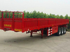 Popular Sale China 35 Ton 3 Axle Sidewall Tractor Cargo Truck Semi Trailer