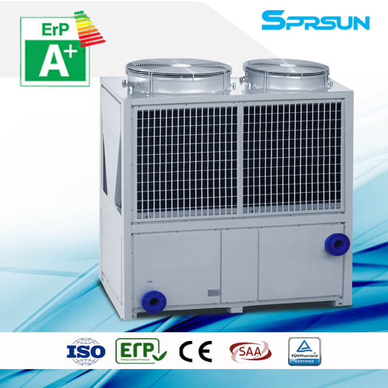 20P 75℃ hot water high temperature air source heat pump heating