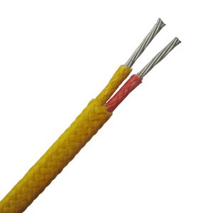 Fiberglass insulated thermocouple wire and extension wire-- Single pair, Flat