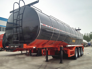 Liquid Heating Bitumen Asphalt Storage Transport Truck Tank Semi Trailer