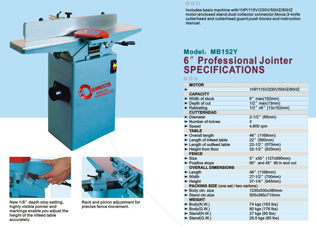 "6"" PROFESSIONAL JOINTER"