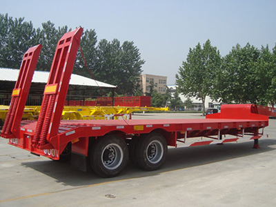 2 Axle 40 Ton Low Bed Truck Semi Trailer