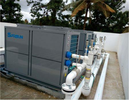 SPRSUN Air to Water Heat Pump Project Worldwide