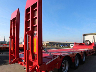 Hot Selling 40 Ton 3 Axles Low Bed Truck Semi Trailer for Sale