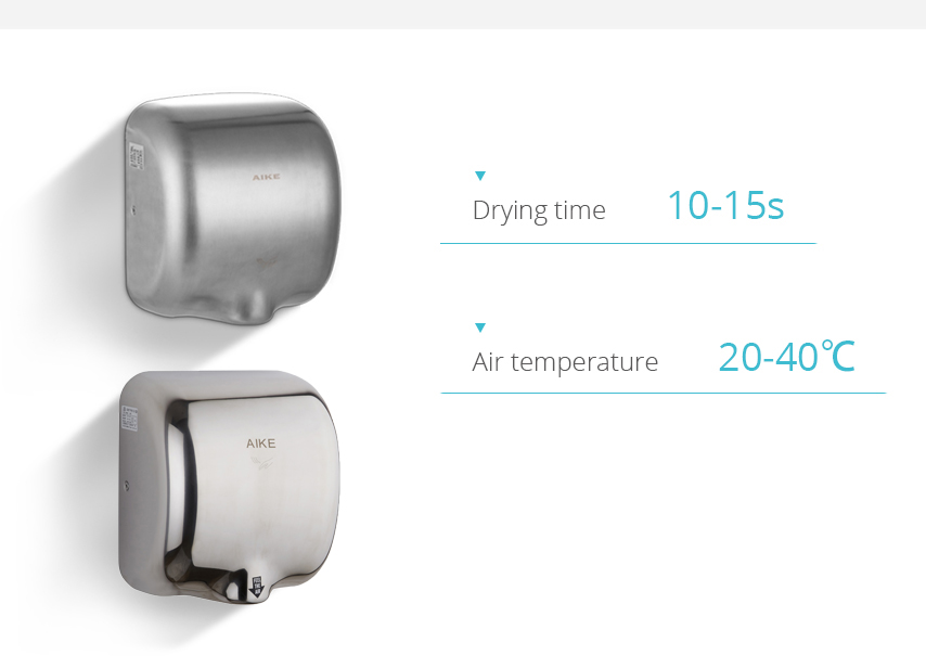 stainless steel hand dryer AK2800 Color