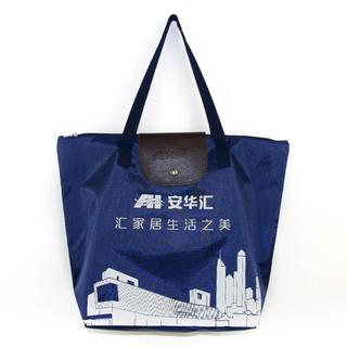 Foldable polyester 600D shopping bag