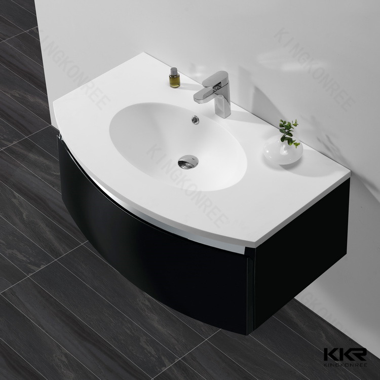 Attractive Solid Surface Bathroom Sinks KKR 1522