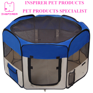 Folding Pet Playpen with Eight Panels