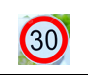 Maximum speed 30 KPH Traffic Sign