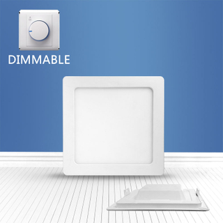 Dimmable Square recessed panel light 16W