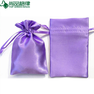 High Quality Cosmetic Pouch Satin Drawstring Bags (TP-dB142)