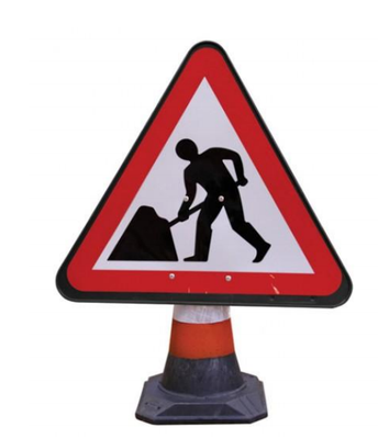 750mm Cone Sign Men at Works