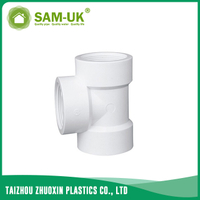 PVC threaded tee for water supply BS 4346
