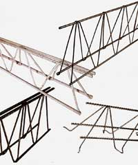 Steel bar truss end product