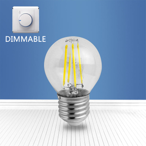 dimmable filament glass bulb G45 4W