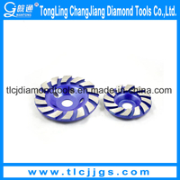 Single Row Stone Diamond Cup Abrasive Grinding Wheel