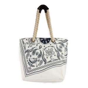 Custom Promotional Cotton Tote Bags with cotton rope handles