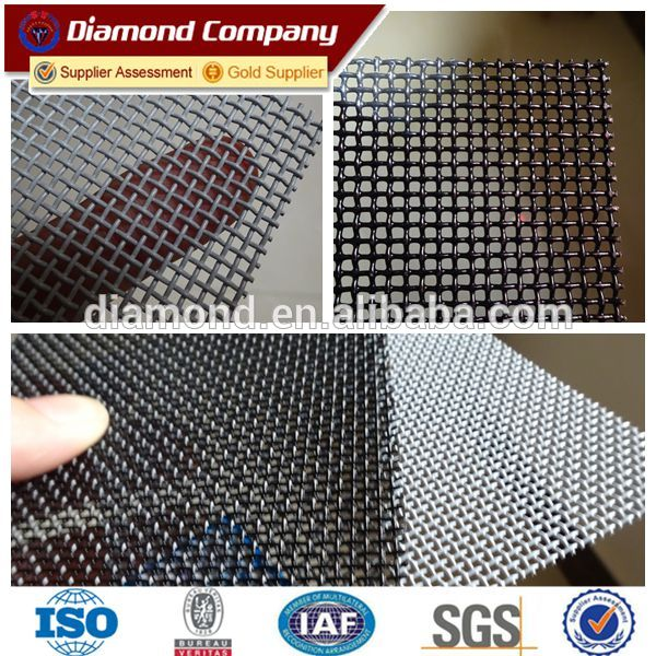 Stainless Steel Wire Mesh Black Powder Coated Security