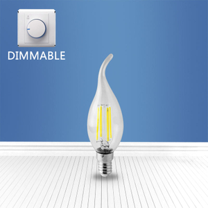 Dimmable filament glass bulb CL35 4W