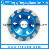 Segmented Single Row Diamond Cup Grinding Wheel for Marble