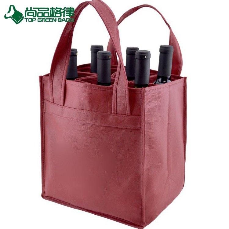 6 Bottles Wine Non Woven Holder Beer Carry Bag Bottle