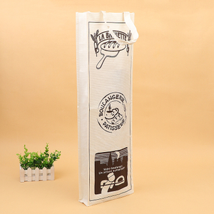 anti tear Warp and Weft SpecialReusable 1-Bottle Wine Paper gift bag