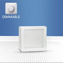 Dimmable Square surface mounted panel light 6W