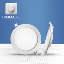 Dimmable Round recessed Panel Light 18W