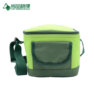 Custom Cheap High Quality Polyestser Lunch Cooler Bags with Front Pocket