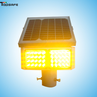 Solar LED traffic flasher