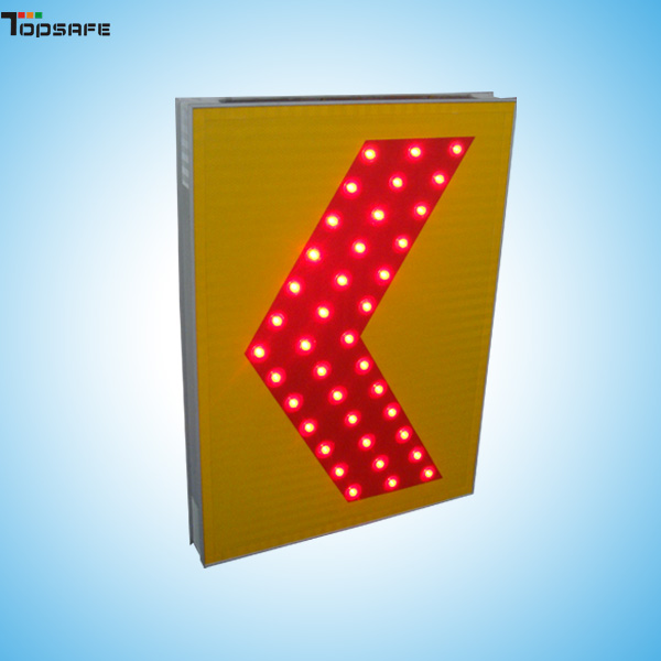 Solar LED chevron sign