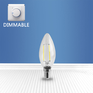 dimmable filament glass bulb C35 2W