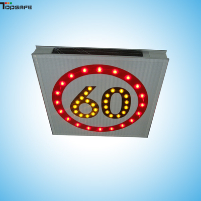 Solar LED speed limited sign