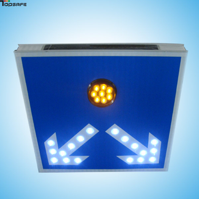 Solar LED two-way guiding sign