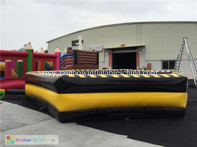 RB91013(dia 7m)Inflatable Bull Mattress For Outdoor Playground Sport Game