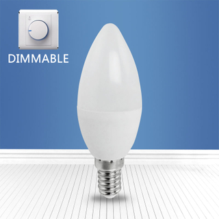 dimmable A3-C37 6W E14 LED candle bulb