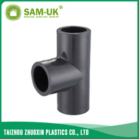 PVC equal tee black pipe fittings manufacturer Schedule 80 ASTM D2467